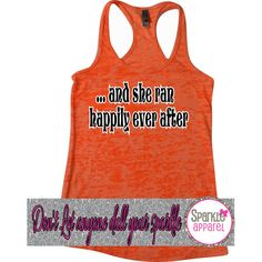 And She Ran Happily Ever After Burnout Racerback Tank Top Yoga Running... ($19) ❤ liked on Polyvore