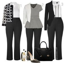 Plus Size Work Outfit Ideas - Plus Size Fashion for Women - Alexawebb.com #alexawebb #plus #size