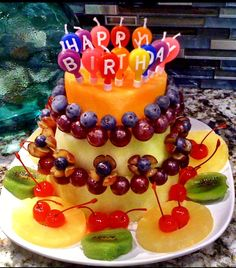 Replace The Regular Birthday Cake With This Healthy Option A Cantaloupe Honey Dew Melon