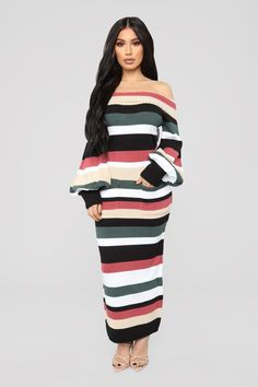 Nylah Stripe Dress - Black Multi. Nova ... 3b3a9f2776c1