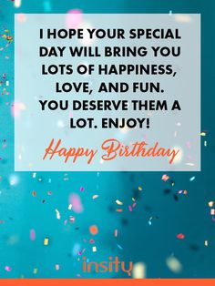 Birthday Wishes with Quotes, Messages & Greetings