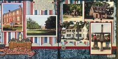 My overall layout page for Colonial Williamsburg. There were so many great pictures from here that I'm splitting them into more pages still. We loved it there! Williamsburg Virginia, Colonial Williamsburg, Best Vacations, Vacation Trips, Travel Scrapbook, Scrapbook Pages, 6 Photos, Layout Inspiration, Great Pictures