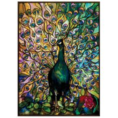 Front door stained glass idea - Tiffany Peacock