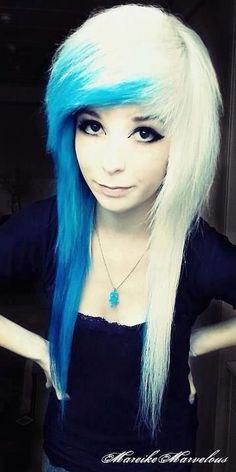 Half white, half blue