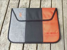 "Timbuk2 Padded Tablet Sleeve - Orange, Gray and Black - 15 w"" x 11 tall""…"