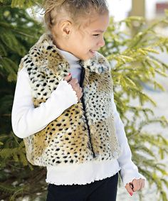 Take a look at this Cheetah Faux Fur Vest - Toddler & Girls by Donna Salyers' Fabulous-Furs on #zulily today!