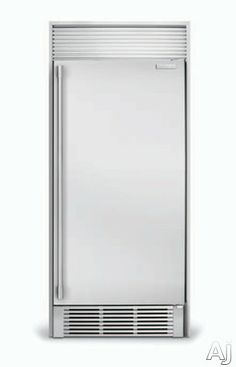 side by side full door fridge and full door freezer electrolux cu all with 3 glass shelves trilevel led theatre lighting