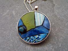stainedglassjewelry | 2011 Eve Lynch, OCEANIA , stained glass, artisan ceramic, glass ...