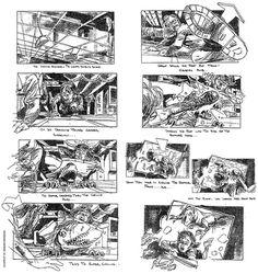 Jurassic Park (1993), Director: Steven Spielberg, Storyboard Artist: David Lowery