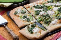 Asparagus+&+Arugula+Pesto+Pizza+with+Pink+Lemon+Ricotta.+Visit+https://www.blueapron.com/+to+receive+the+ingredients.