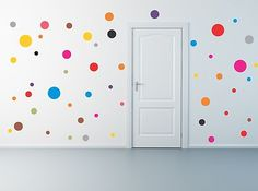 Polka Dot Wall Decals Remoavable Stickers