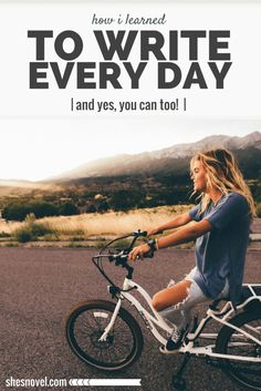 Writing everyday is one of the best ways to improve your skills and move closer to completing your novel. Think writing everyday sounds insane? Check out these writing tips and learn how to make daily writing a habit! Writing Quotes, Writing Advice, Writing Resources, Writing Help, Writing Skills, Writing A Book, Writing Ideas, Creative Writing Inspiration, Improve Writing