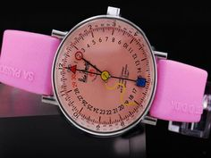 Alain Silberstein Pink Dial and Strap Montre Alain Silberstein, Watches, Pink, Accessories, Clocks, Hot Pink, Clock, Pink Hair