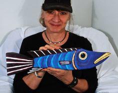 Reclaimed Wood Fish Decor For Home or Office Original Folk Art Handmade in Mississippi