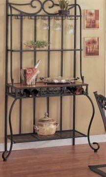 "Contemporary Stylish Wine Rack in Brown Finish by H-M SHOP. $149.50. Dimension: 34""W x 18""D x 72""H. No delivery for Alaska, Hawaii. Material: Metal. Color: brown. Assembly is required.. The brown contemporary style wine rack provides an elegant atmosphere to your dinning room or living room, while a nice focal point."