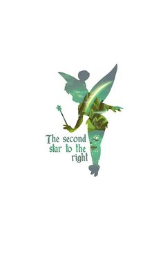 """""""Tinkerbell Silhouette"""" Matted Prints Everyone follow Disney Lovers on this users page"""