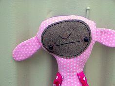 Rag Doll Pink  Goth Bunny Mooza by MysticHillsNgaroma on Etsy