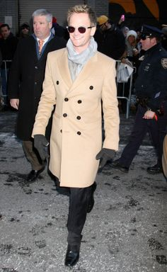 Bradley Cooper and Olivia Palermo head to London Fashion Week, Amber Heard stops by David Letterman and Lady Gaga is spotted in mesh in New York City. David Burtka, Neil Patrick Harris, Manly Man, Himym, How I Met Your Mother, Better Half, Sharp Dressed Man, Fan Fiction, Man Stuff