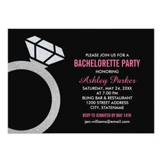 Shop Hot Pink Bachelorette Party with Diamond Ring Invitation created by Plush_Paper. Personalize it with photos & text or purchase as is! Pink Bachelorette Party, Bachelorette Party Invitations, Engagement Party Invitations, Modern Wedding Invitations, Custom Invitations, Invites, Invitation Design, Invitation Cards, Invitation Ideas