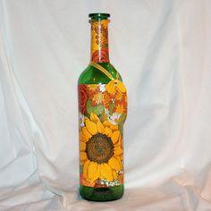 Darčeková fľaša Slnečné kvietky
