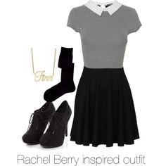 Rachel Berry inspired outfit/Glee by tvdsarahmichele on Polyvore featuring Falke, rachelberry, glee and leamichele