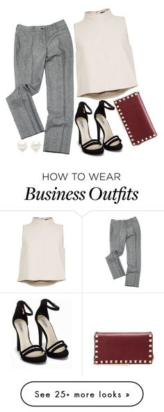 """work wear"" by lalatheawesome on Polyvore featuring Екатерина Смолина, Nly Shoes, TIBI, Valentino, Tiffany & Co., WorkWear, dressy and notwhatiwouldwear"