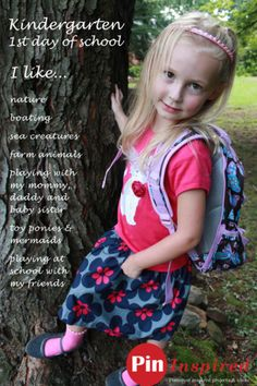 First Day of School Kindergarten | capture memories of the first day of school with special pictures