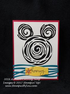 Fun with Swirly Birds | Stamp, Scrap & Create with Me Mickey Mouse