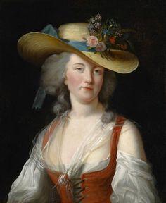 The Athenaeum - Portrait de Anne Catherine Le Preudhomme de Chatenoy, Comtesse der Verdun Élisabeth Vigée-Lebrun - 1776 Painting - oil on canvas