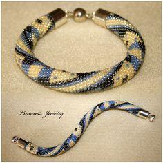 bracelet, beadcrochet, toho, handmade, jewelry