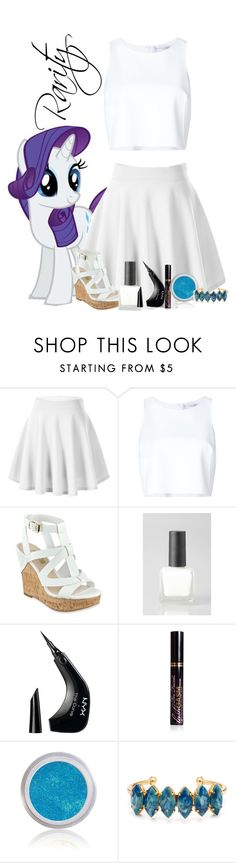 """""""Rarity #2"""" by xxmonnyxx ❤ liked on Polyvore featuring My Little Pony, Carolina Herrera, GUESS, Urban Outfitters, NYX, Too Faced Cosmetics and Elizabeth Cole"""