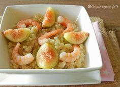 Ensalada de quinoa con higos y langostinos