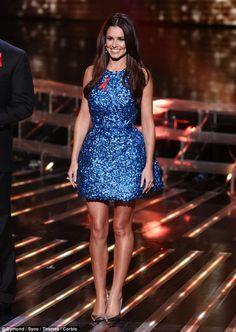 Cheryl Fernandez-Versini.. Monique Lhuillier Spring 2013 dress, with Stuart Weitzman Nouveau Pumps..