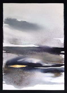 Landscape Painting, Large Watercolor - Original Abstract Watercolor, Contemporary Art, Black and White / Abstract Landscape - Modern Art by MadlenDesign on Etsy https://www.etsy.com/listing/264675493/landscape-painting-large-watercolor