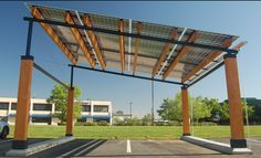 2012 Dwell On Deisgn Award Winner.  Solar canopy.  It was 112 degrees inside my car today after being in the parking lot 6 hours.