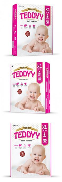 Teddyy Premium Baby Diaper Size 4 Extra Large 30 Count (23 to 37 lbs)
