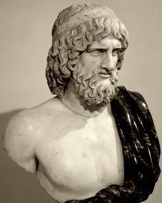 Pluto, Roman bust, after 5thC BCE Greek original of Hades/Pluton - Museo Nazionale Romano, Palazzo Altemps, Campo Marzio, Roma