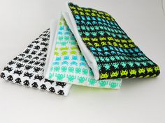 Burp Cloths Atari Space Invaders Video Game Timeless by SprySprout, $18.50