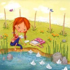 """""""Cuando no entiendas un mensaje déjalo ir. Si vuelve a ti es porque vas a comprenderlo y si no vuelve es porque llegará otro mejor."""" - Vivi Cervera-   __________________ Ilustr. Valérie Willame"""