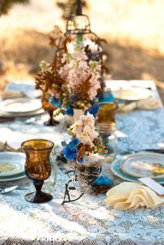 Vintage Fall Wedding Inspiration Shoot -- i like the tablecloth! Autumn Wedding, Chic Wedding, Dream Wedding, Wedding Reception, Rustic Wedding Inspiration, Wedding Ideas, Wedding Stuff, Room Inspiration, Wedding Colors