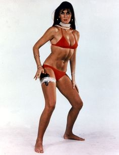 Caroline Munro - Famous for roles in Hammer horror films and in Bond film, The Spy Who Loved Me.