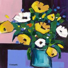 Yellows and Whites by Bernie Wisniewski Limited Edition mounted prints Artist Biography, Blues Music, Source Of Inspiration, Limited Edition Prints, Impressionist, Vibrant, Colours, Paintings, Yellow