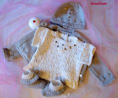 Hand knitted baby girl's Luxury Merino by AniramCreates on Etsy, £55.00