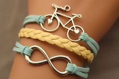 Hey, I found this really awesome Etsy listing at http://www.etsy.com/listing/128030711/bike-bracelet-infinity-bracelet-antique