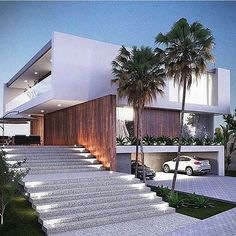 Do you want to build your own dream modern house? These beautiful modern house plans may inspire you! Modern Architecture House, Residential Architecture, Modern House Design, Amazing Architecture, Architecture Design, Creative Architecture, Minimalist Architecture, Modern Buildings, Landscape Architecture