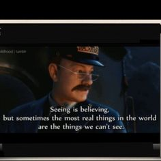 The Polar Express tie in with bible study on verse that talks about how blessed are those who believe that have not seen:)