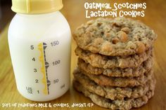 Making Mama's Kitchen: Oatmeal Scotchies (includes recipe for lactation cook. Making Mama's Kitchen: Oatmeal Scotchies (includes recipe for lactation cookie) Oatmeal Scotchies, Oatmeal Cookies, Milk Booster, Breastfeeding Snacks, Oatmeal Recipe For Breastfeeding, Milk Makers, Lactation Recipes, Lactation Foods, Healthy Lactation Cookies