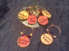 My newest creation... Wine Charms