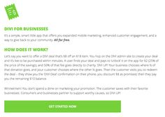 DIVI explained for Businesses.  Completely free! #savemoneydogood #DIVIUP