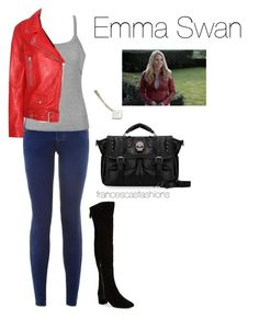 """""""Once Upon A Time: Emma Swan"""" by msfrancescaaloe on Polyvore featuring New Look, Ally Fashion, Acne Studios, Nine West, onceuponatime, EmmaSwan and francescasfashions"""